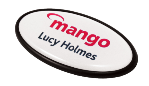 name badges oval