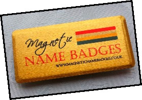 brushed gold magnetic name badges