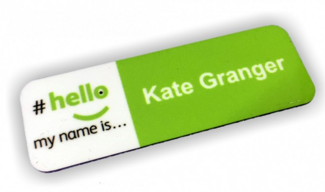 Name Badge: #hello My Name Is Name Badges