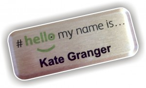 personalised id name badge