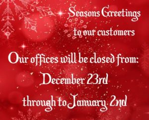 Opening Hours Christmas 2019