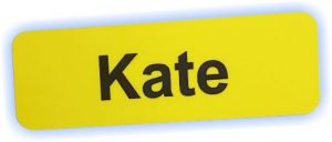 NHS Yellow Magnetic Name Badges