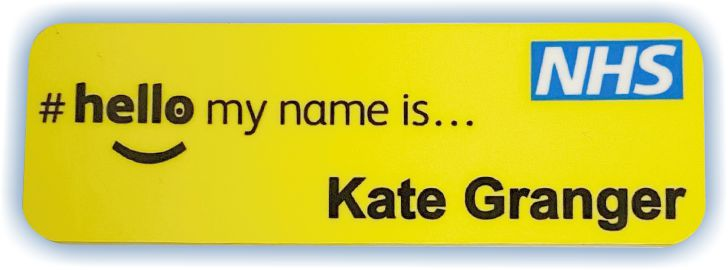 patient friendly magnetic name badges